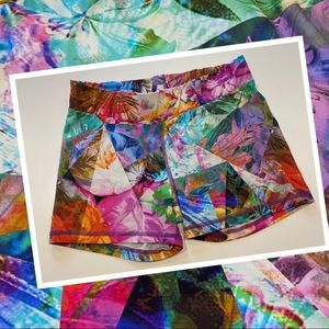 Running Bare Booty short shorts bright colourful